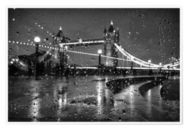 Poster  Tower Bridge Tears London - Alex Saberi