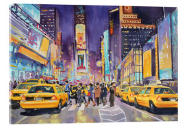 Verre acrylique  Times Square at night - Paul Simmons