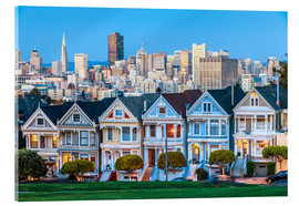 Tableau en verre acrylique  Painted Ladies, San Francisco
