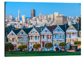 Tableau en aluminium  Painted Ladies, San Francisco