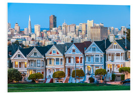 Tableau en PVC  Painted Ladies, San Francisco