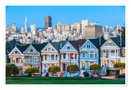 Poster  Painted Ladies, San Francisco