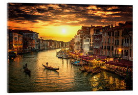 Verre acrylique  Grand Canal at sunset