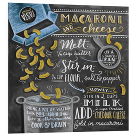 Tableau en PVC  Recette Macaroni and Cheese (anglais) - Lily & Val