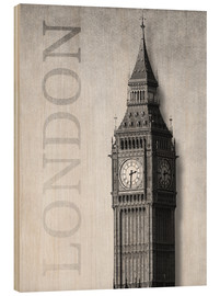 Tableau en bois  London - Big Ben - Alex Saberi