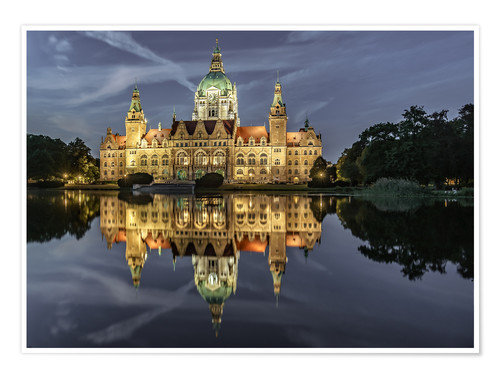 Poster Neues Rathaus - Hannover, Germany
