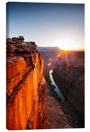 Tableau sur toile  Beautiful sunrise on Grand Canyon and river Colorado, USA - Matteo Colombo