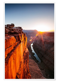 Poster  Beautiful sunrise on Grand Canyon and river Colorado, USA - Matteo Colombo