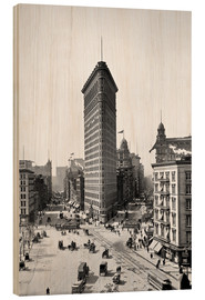 Tableau en bois  New York City 1920, Flatiron Building - Sascha Kilmer