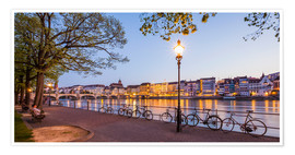 Poster  Basel at night - Dieterich Fotografie