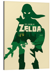 Tableau en aluminium  The Legend of Zelda - Golden Planet Prints