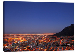Toile  Cape Town at night, South Africa - wiw