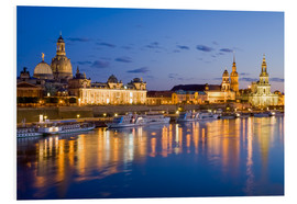 Tableau en PVC  Dresden at night - Dieterich Fotografie