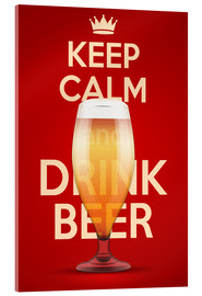 Verre acrylique  Keep Calm And Drink Beer