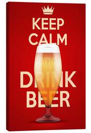 Tableau sur toile  Keep Calm And Drink Beer