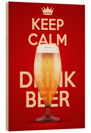 Tableau en bois  Keep Calm And Drink Beer