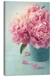 Toile  Roses roses vintages