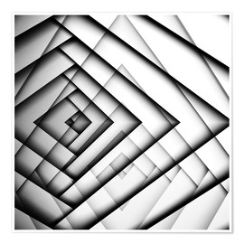 Poster Mirrored Triangles
