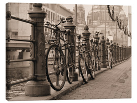 Toile  Bicycles on a promenade