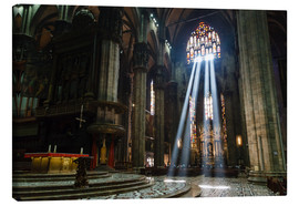 Toile  Beams of Light inside Milan Cathedral