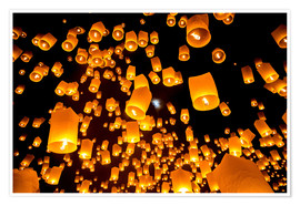 Poster  Sky lanterns in Chiangmai