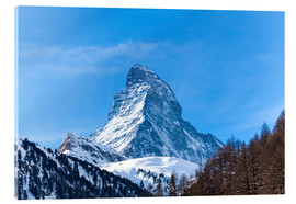 Tableau en verre acrylique  The Matterhorn, Switzerland