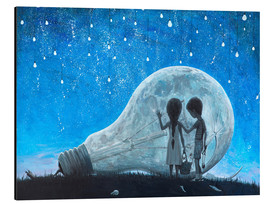 Tableau en aluminium  The night we broke the Moon - Adrian Borda