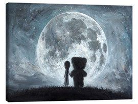 Tableau sur toile  In my dreams you always bring me to the Moon - Adrian Borda