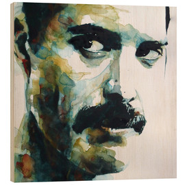 Tableau en bois  Freddie Mercury - Paul Lovering Arts