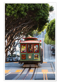 Matteo Colombo - Tramway dans une rue de San Francisco, Californie, USA