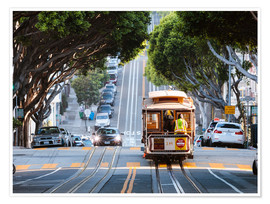 Poster Cable tram in a street of San Francisco, California, USA