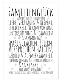 Poster Familienglück (allemand)
