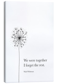 Tableau sur toile  We were together - RNDMS
