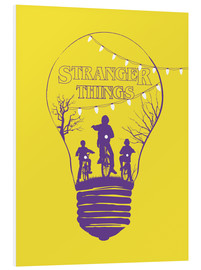 Tableau en PVC  Stranger Things, jaune - Golden Planet Prints
