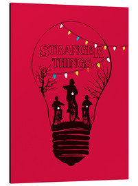 Tableau en aluminium  Stranger Things, rouge - Golden Planet Prints