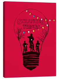Golden Planet Prints - Alternative Stranger Things rouge version art