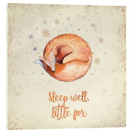 Tableau en verre acrylique  Sleep well little fox - UtArt