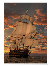 Poster  Le HMS Victory - Peter Weishaupt