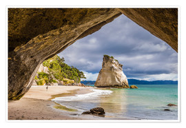 Poster  Cathedral Cove - Thomas Klinder