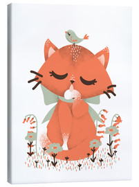Toile  Animal friends - The cat - Kanzi Lue