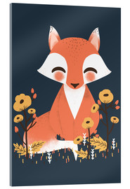 Verre acrylique  Animal friends - The fox - Kanzi Lue