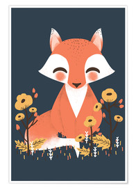 Poster  Animal friends - The fox - Kanzi Lue