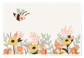 Poster  Animal friends - The bee - Kanzi Lue