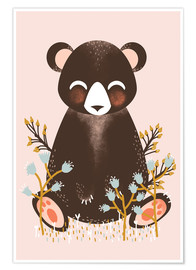 Kanzi Lue - Animal friends - The bear pink