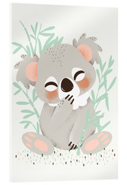 Verre acrylique  Animal friends - The koala - Kanzi Lue