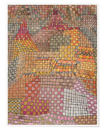 Poster  city ??Palace - Paul Klee