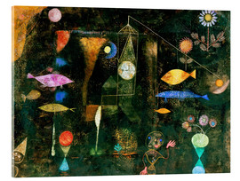 Verre acrylique  fish magic - Paul Klee