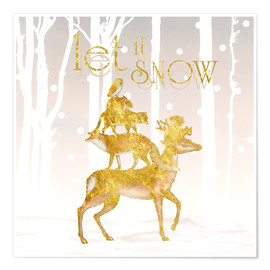 Poster Let it snow