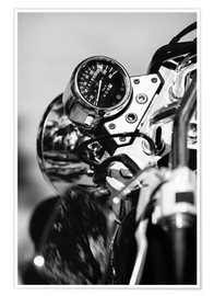Poster  Speedometer of a motorcycle