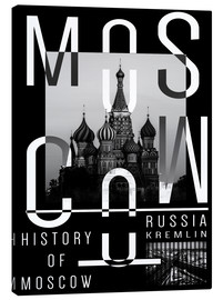 Tableau sur toile  Moscow - Moscou - Typobox